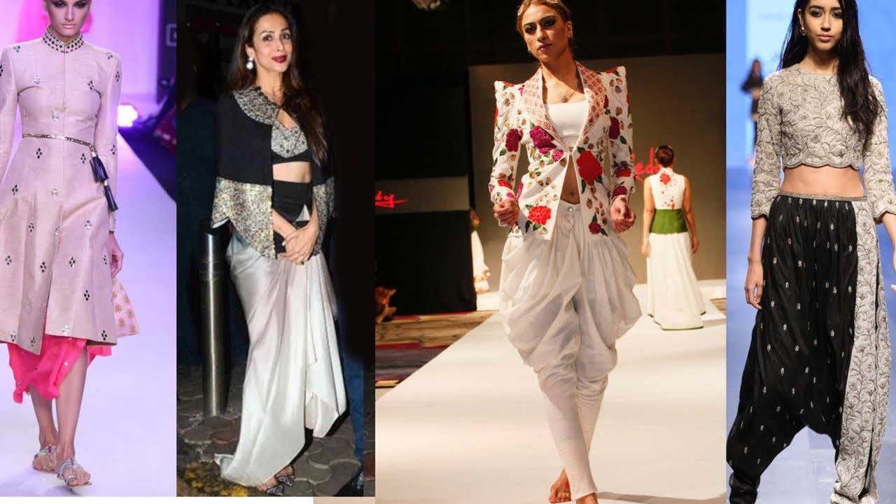 Indo Western Dresses From Latest Fashion Shows Wedding Dresses Of Indo Western Combination Youtube