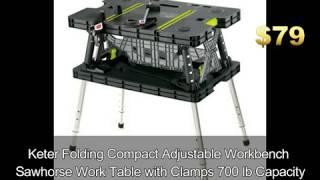 Keter Folding Work Table Bench exp/Legs - Last Minute Gift Ideas For Him, Husband, Boyfriend in NJ