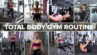 Total Body Strength Training Gym Routine | Joanna Soh