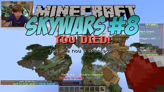 Minecraft SkyWars #8 - SO MANY FAILS!!! | KID GAMING