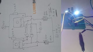 Membuat Lampu LED Kedip Flip Flop 12V  High Power