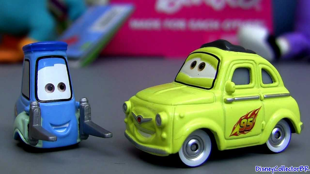 Luigi and Guido diecasts #10 and #11 from Disney Cars 2 Pixar Mattel figure toy review - YouTube