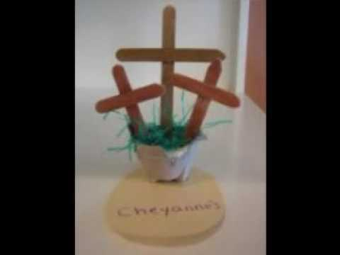 Religious Easter Crafts For Children Youtube
