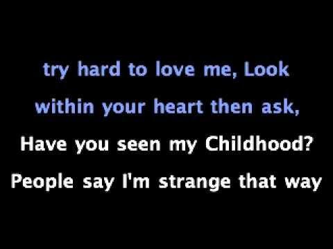 Childhood - Michael Jackson with lyrics