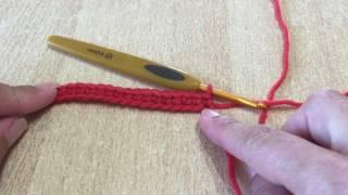 Tuto point de base débutant, débutante au crochet spécial gaucher