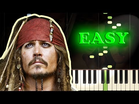 PIRATES OF THE CARIBBEAN - HE'S A PIRATE - Easy Piano Tutorial