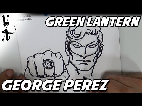 George Perez drawing Green Lantern