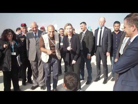 EU High Representative Federica Mogherini visit to Zatari Camp