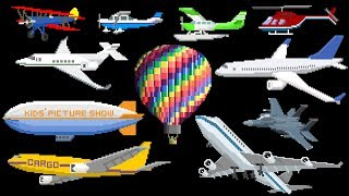 Things that Fly - Book Version - Aircraft - Air Vehicles - The Kids' Picture Show (Learning Video)