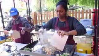 """Kothu Roti"" - Sri Lankan inspired Street Food by ""Kothu Kothu"" in Camden Lock Market, London."