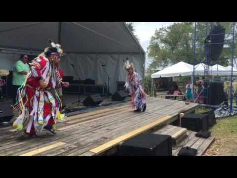 Poarch Creek Powwow Club performs at Musical Echoes.