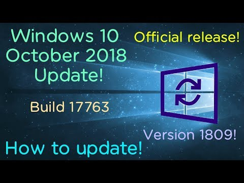 How to update to the Windows 10 October 2018 Update! (Read description)