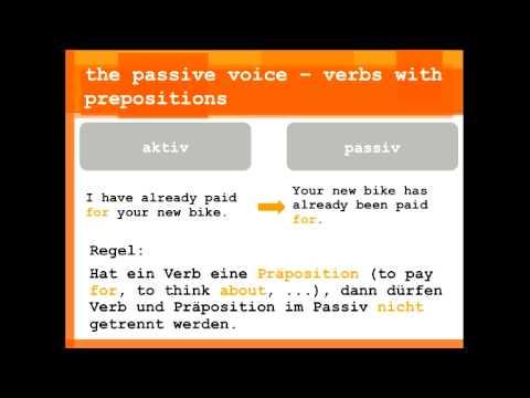 das passiv im englischen