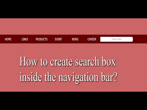 How To Create Search Box Inside The Navigation Bar Using Html And Css?