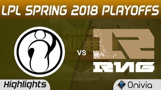 IG vs RNG Highlights Game 1 LPL Spring 2018 Playoffs Invictus Gaming vs Royal Never Give Up by Onivi