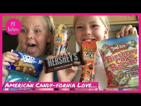 American Candy-fornia Love Review.... Ft Toad-Ally Birthday Cake Popcorn!