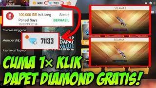 BUKAN BUG!! CUMA 1x KLIK BISA DAPET DIAMOND GRATIS DI FREE FIRE!!  Free Fire Indonesia