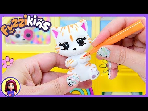 Colour In Your Toys! Fuzzikins Kitty Campervan