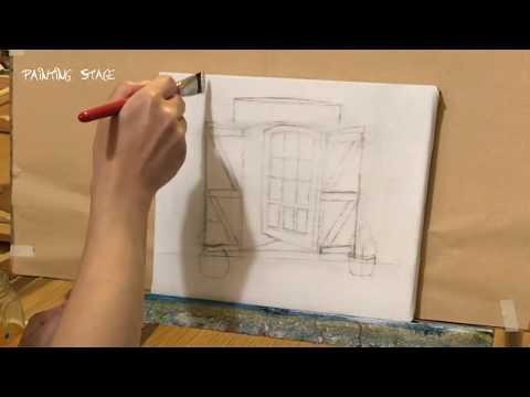 Painting Stage油畫教學-Painting Stage油畫教學-歐洲庭園景色