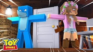 MINECRAFT TOYS - IS THIS THE END OF THE TOY STORE ?? w/ Little Kelly and Sharky