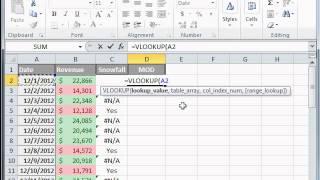 Excel Tutorial 17 of 25 - VLOOKUP Formula