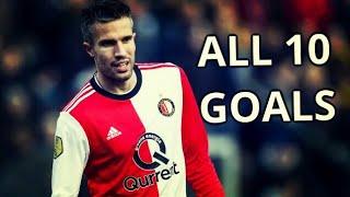 Robin Van Persie All 10 Goals for Feyenoord 2017-2018