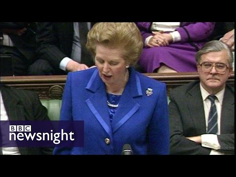 The day Margaret Thatcher resigned - Newsnight archives (1990)