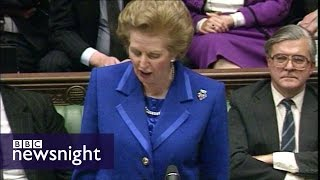 Newsnight archives 1990 - Thatcher resignation day