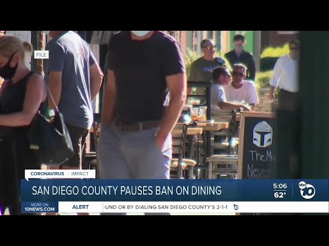 San Diego Supervisor Fletcher discusses ruling that allows restaurants to reopn