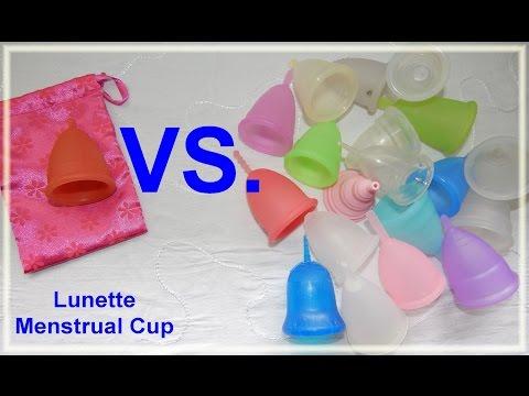 Lunette vs Various Menstrual Cups - Comparison