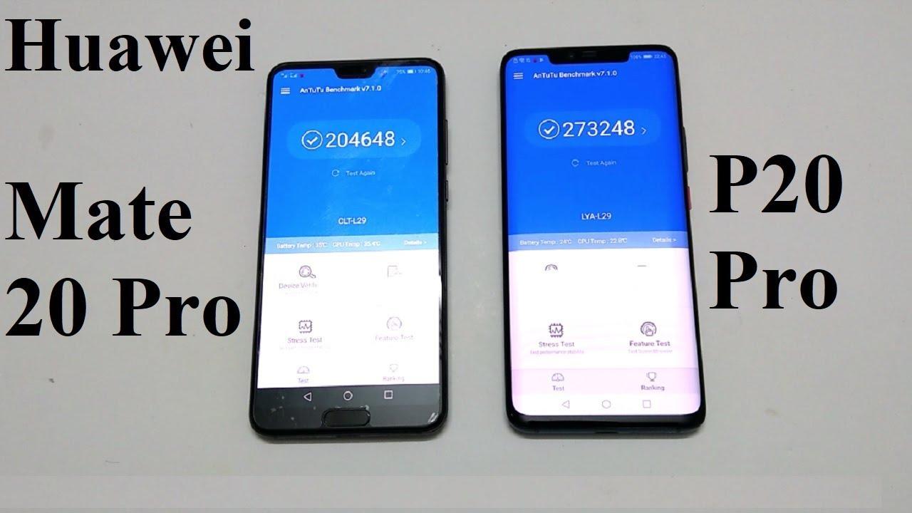 Huawei Mate 20 Pro Vs Huawei P20 Pro - Benchmark Comparison
