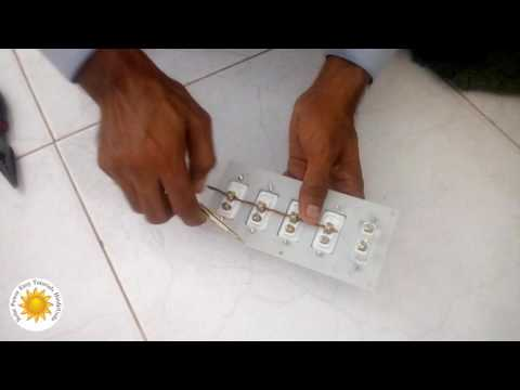 solar wiring Urdu Hindi on off switch board connections