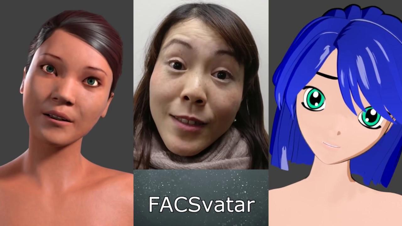 FACSvatar v0 2 3 Manuel Bastioni smoothed facial expressions and head  movement