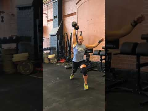 Alternating single arm db clean split jerk