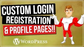 WordPress Login And Registration Pages   Customize Your Website for FREE