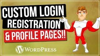 वर्डप्रेस लॉग इन और पंजीकरण पेज | मुफ्त के लिए अपनी वेबसाइट अनुकूलित