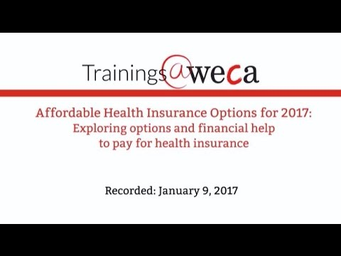 Affordable Health Insurance Options for 2017