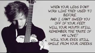 Thinking out loud / ED sheeran