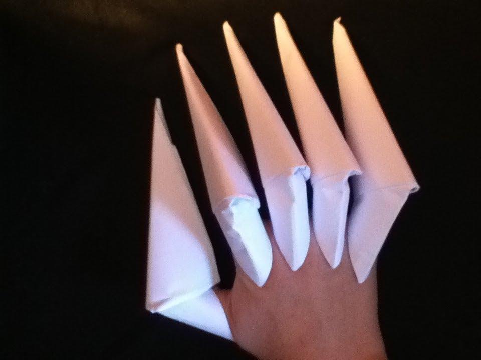 Tuto comment faire des griffes en papier facile youtube - Comment faire un scoubidou facile ...