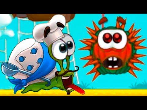 УЛИТКА БОБ 3 и Кид #5 Повар Snail Bob встретил колючку помидора на детском канале пурумчата