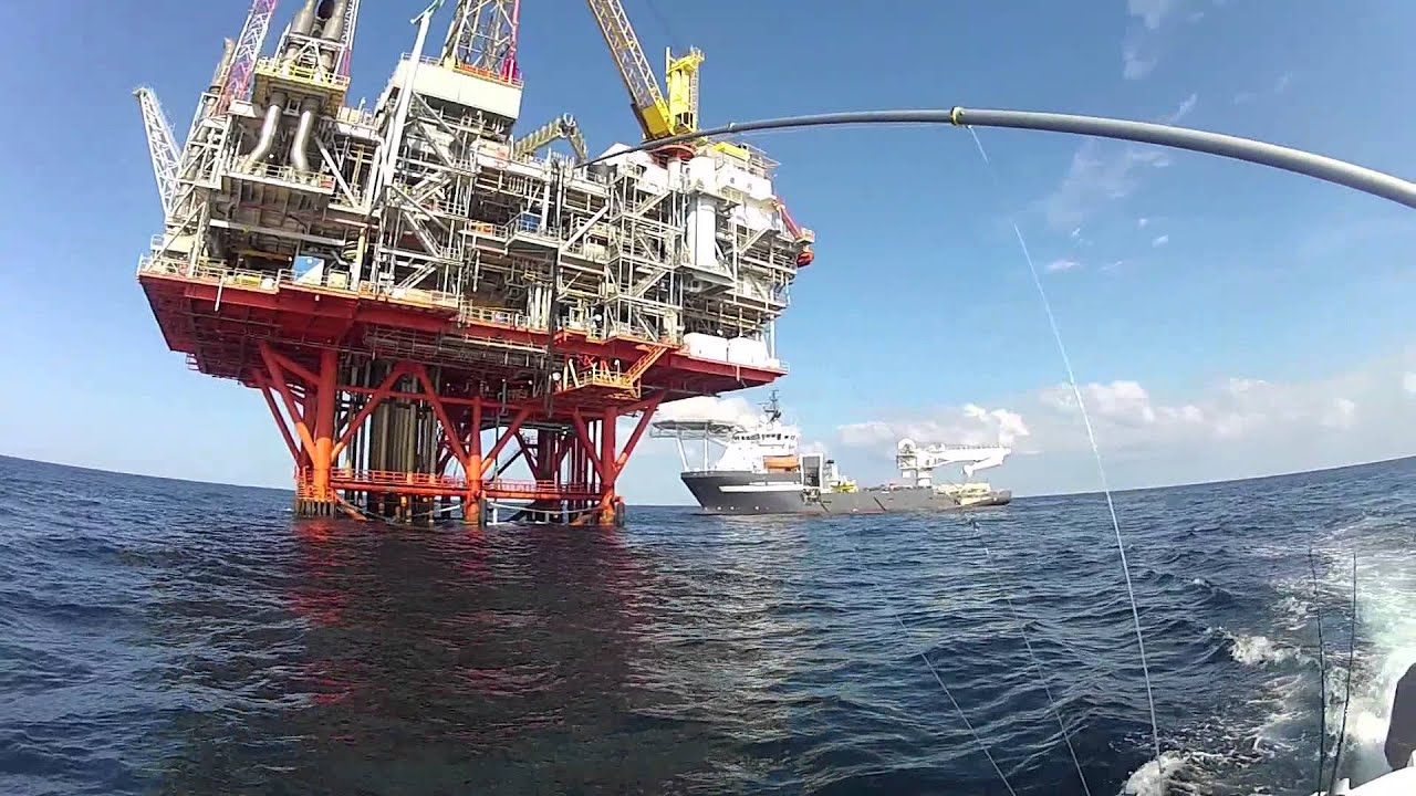 Fishing The Oil Rigs Youtube