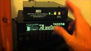 MFJ-939 automatic antenna tuner review and demo