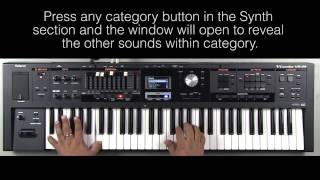 Roland VR-09 - How to Select Sounds in Synth Section