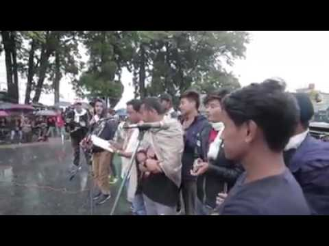 Cultural Protest Programme at Darjeeling Chowrasta, Gorkhaland Movement
