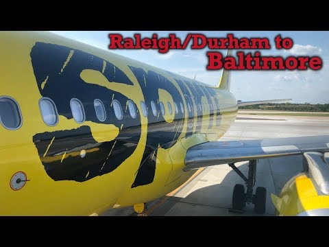 Full Flight: Spirit Airlines A320 Raleigh/Durham To Baltimore (RDU-BWI)
