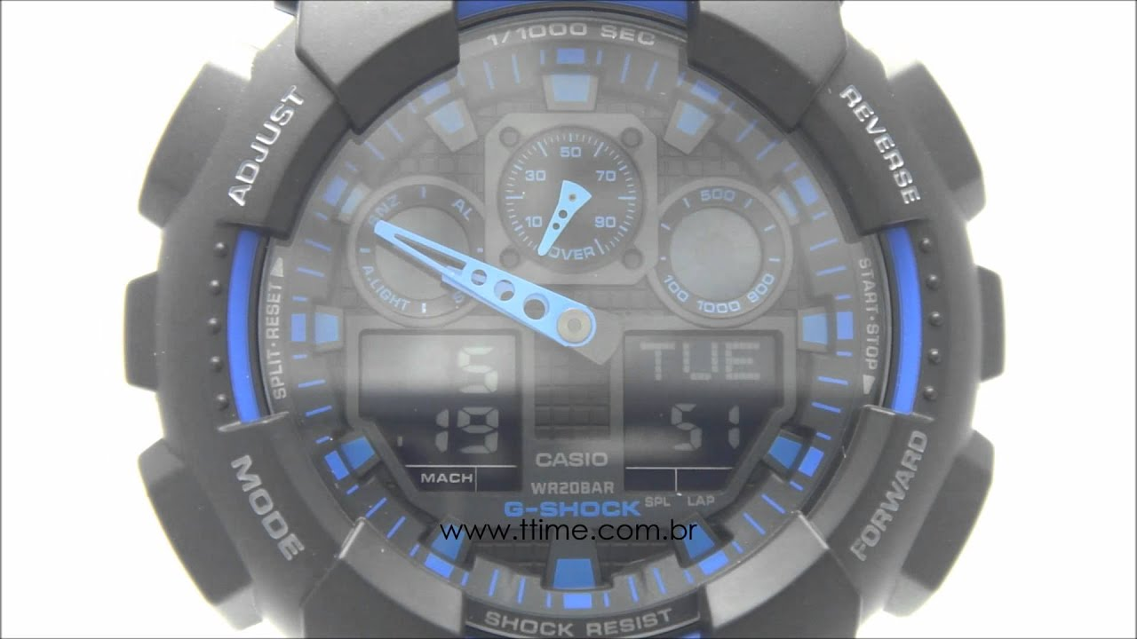 e3125dd3939 Relógio Casio G-Shock GA-100-1A2DR - YouTube