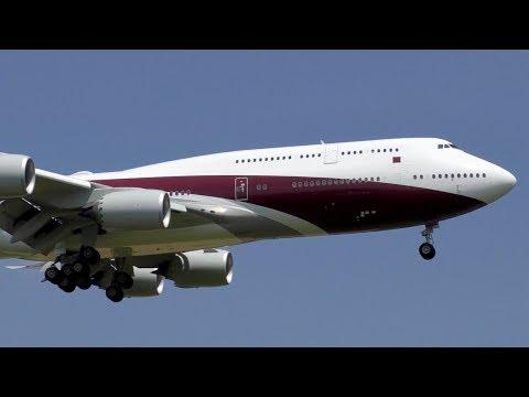 MOST BEAUTIFUL JUMBO JET? Private B747-8ZV(BBJ) [VQ-BSK] landing at Zurich Airport