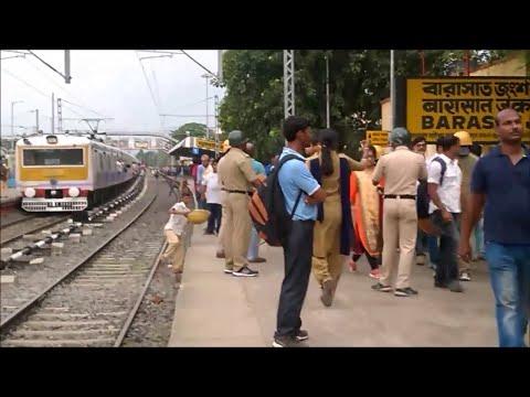 Barasat Station during Left Protest