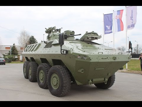 Lazar 2 MRAV MRAP 8x8 armoured Yugoimport video report Army Recognition Defense Web TV Serbia