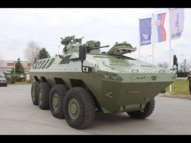 Lazar 2 MRAV MRAP 8x8 armoured Yugoimport video report Army Recognition Defense Web TV Serbia
